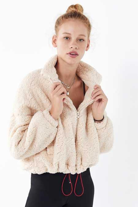 Women S Faux Fur Teddy Fuzzy Jackets Urban Outfitters Canada
