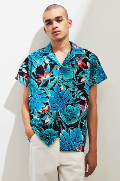 Vintage Dark Ground Hawaiian Shirt by Urban Outfitters Vintage