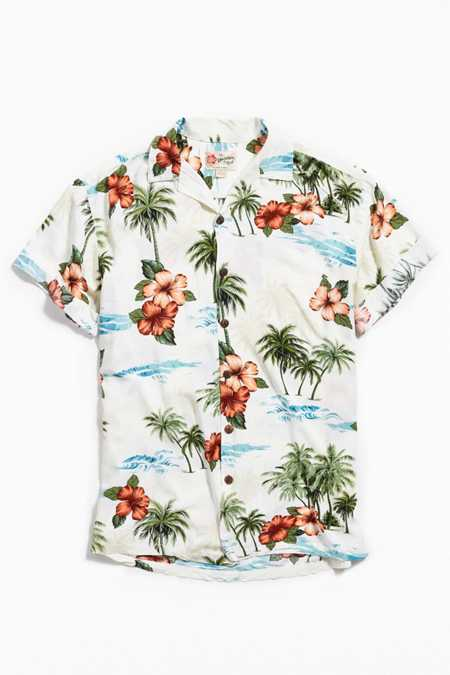 Vintage White Background Hawaiian Shirt