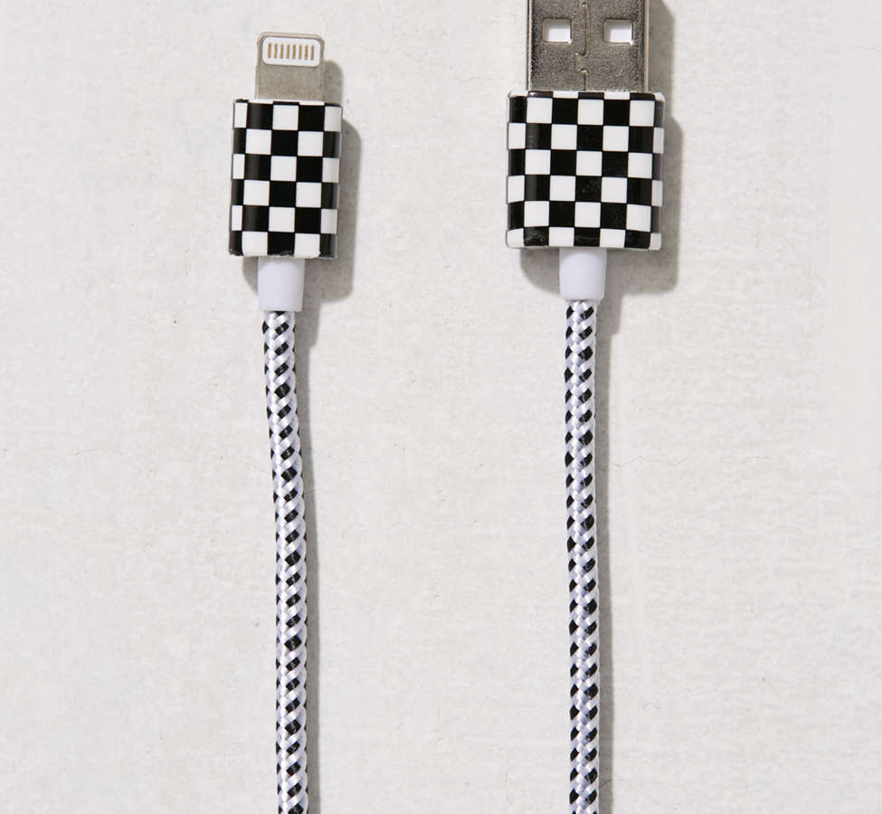 Slide View: 3: Checkerboard Lightning Cable