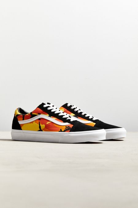 ed32fb102f4b28 Vans Old Skool Pop Camo Orange Sneaker