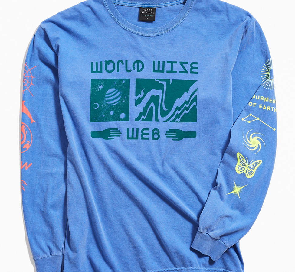 Slide View: 1: Extra Vitamins World Wise Long Sleeve Tee