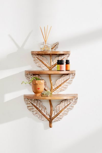 Laurel Floral Tiered Shelf by Urban Outfitters