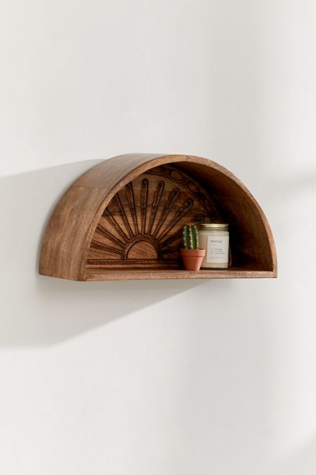 Sunset Wooden Wall Shelf