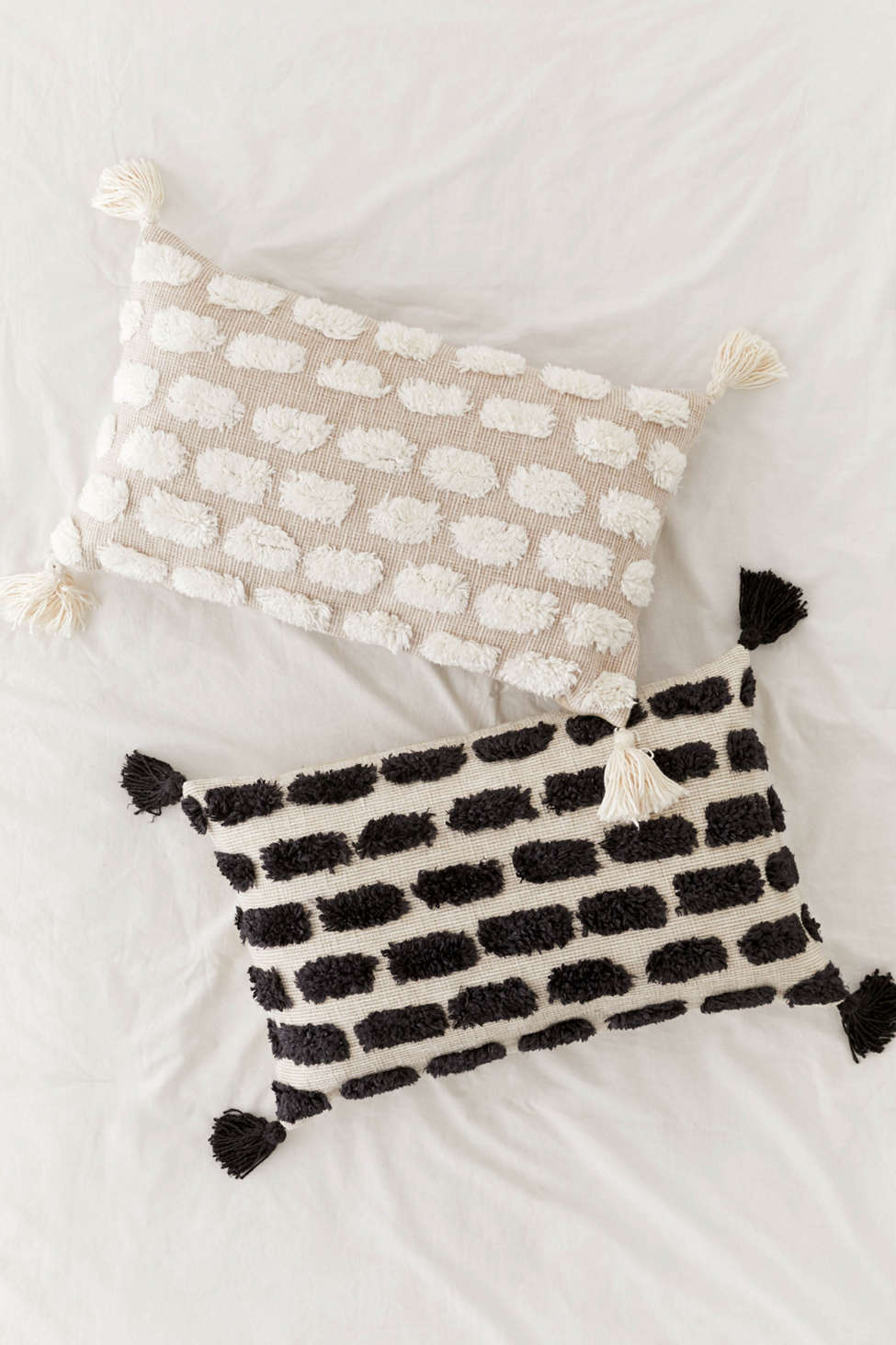 Slide View: 1: Tilly Tufted Tassel Bolster Pillow