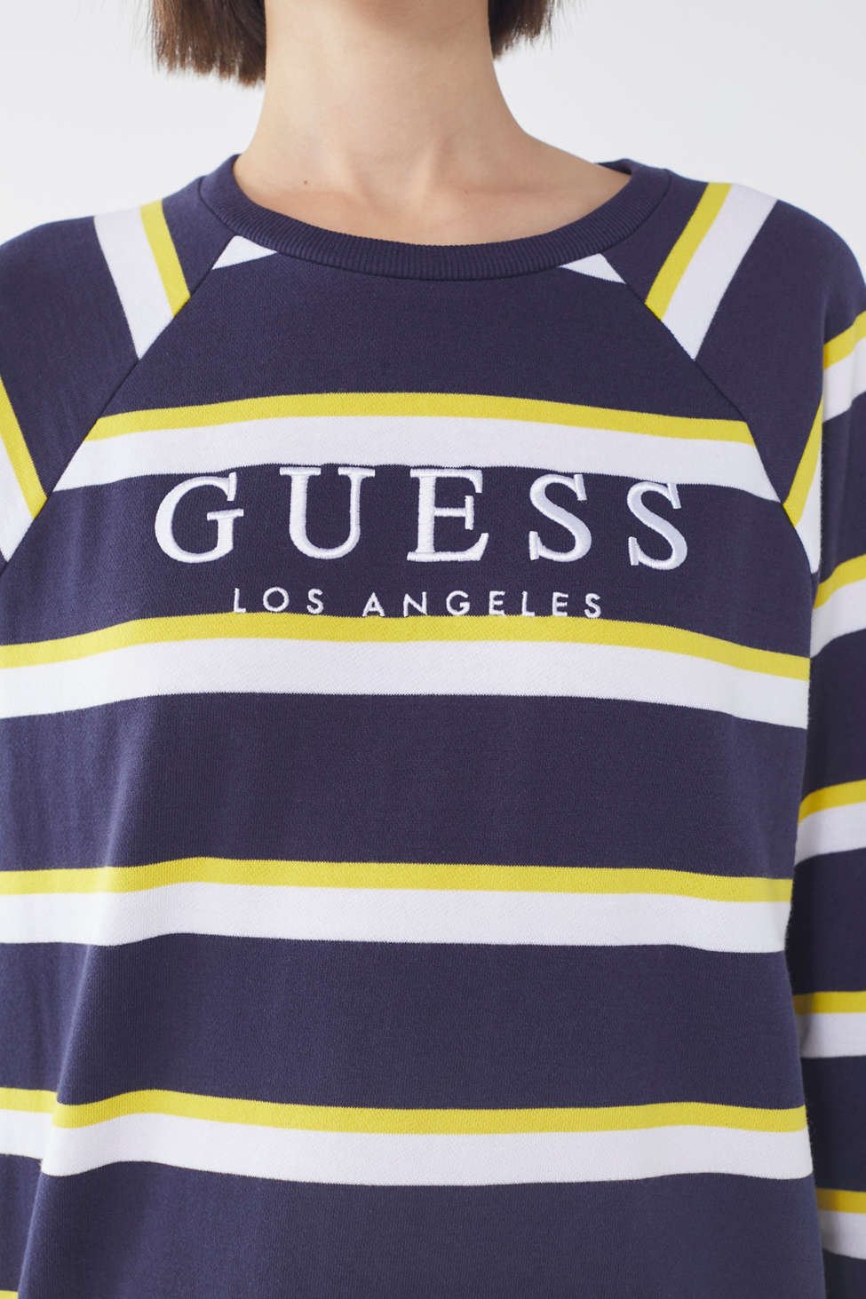 Guess + Uo Striped Crew Neck Sweatshirt by Guess