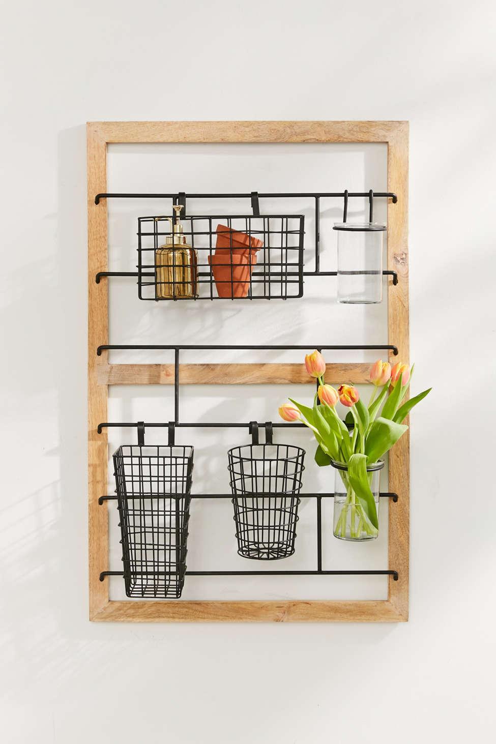 Slide View: 1: Wooden Storage Frame