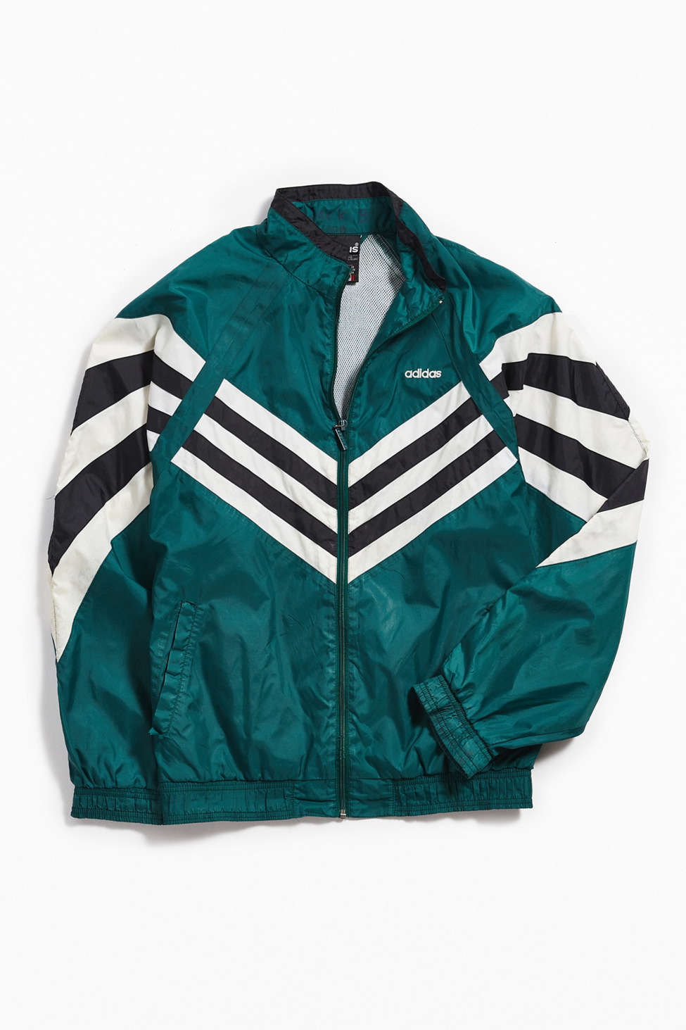 Vintage Adidas Green White Windbreaker Jacket Urban Outfitters