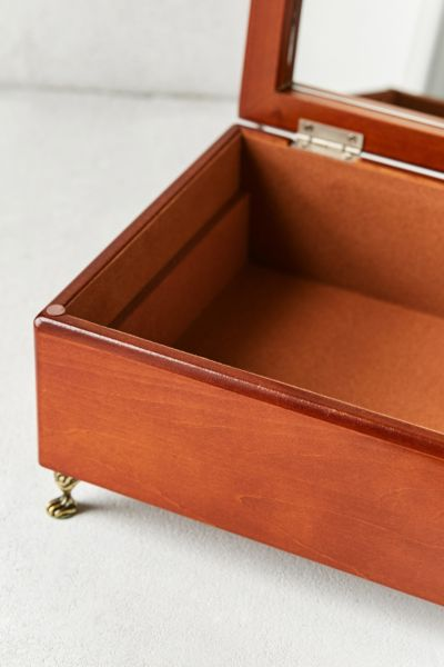 Mele Co Kinsley Wooden Footed Jewelry Box Urban Outfitters