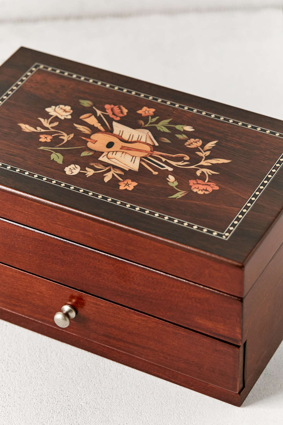 Slide View: 5: Mele & Co. Brynn Florentine Motif Wooden Jewelry Box