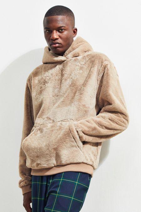 Uo Faux Fur Hoo Sweatshirt