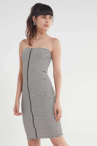 22f8b15e5ae27 Shoptagr | Uo Striped Zipper Tube Dress by Urban Outfitters