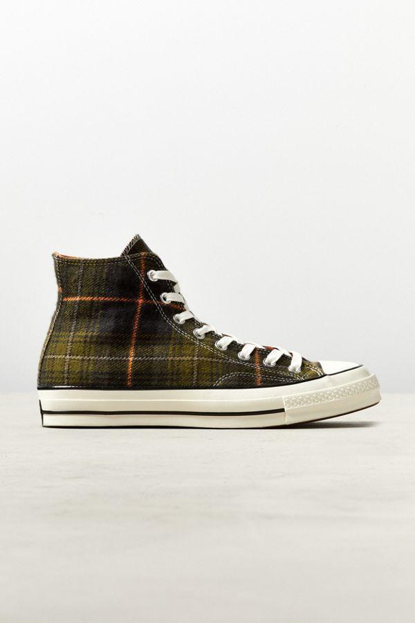 CONVERSE Hi Plaid giallo nero invernali sneakers scarpe bimbo