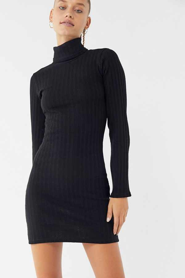 Textured Turtleneck Sweater Dress | Urban Outfitters