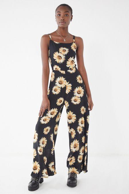 b74fb15274 UO Sunflower Tie-Back Jumpsuit · Quick Shop