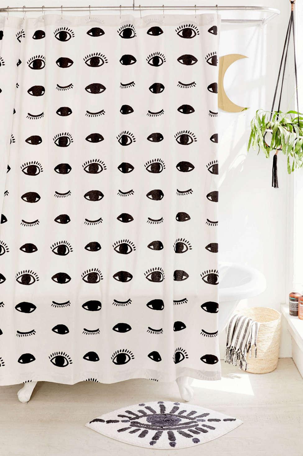 Slide View: 1: Winky Eyes Shower Curtain