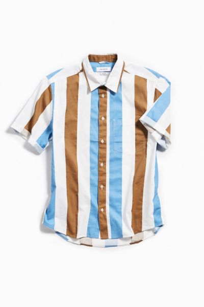 f6b1e9be43b6 Shoptagr | Uo Striped Short Sleeve Button Down Shirt by Urban Outfitters