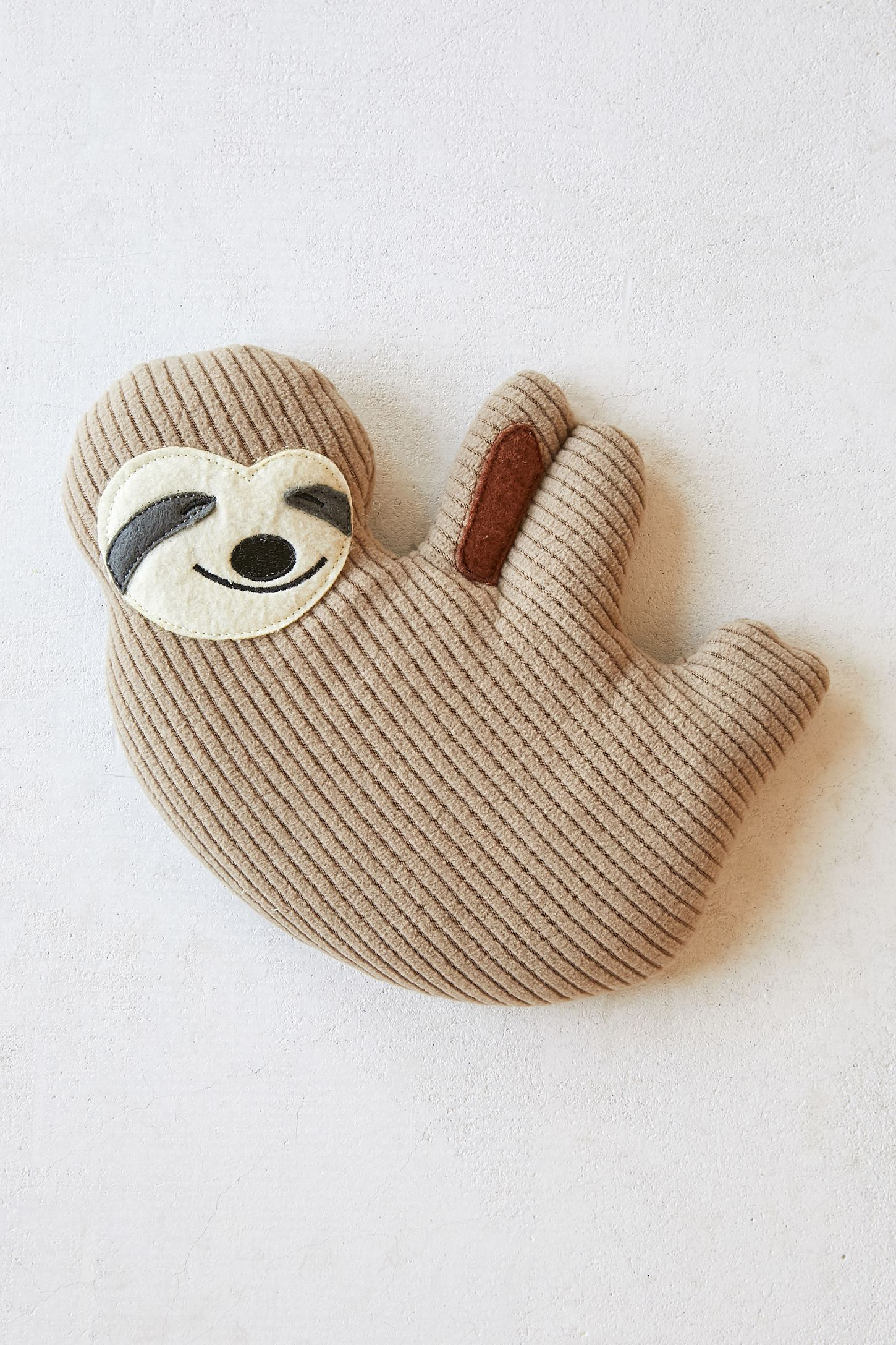 huggable sloth cooling heating pad urban outfitters