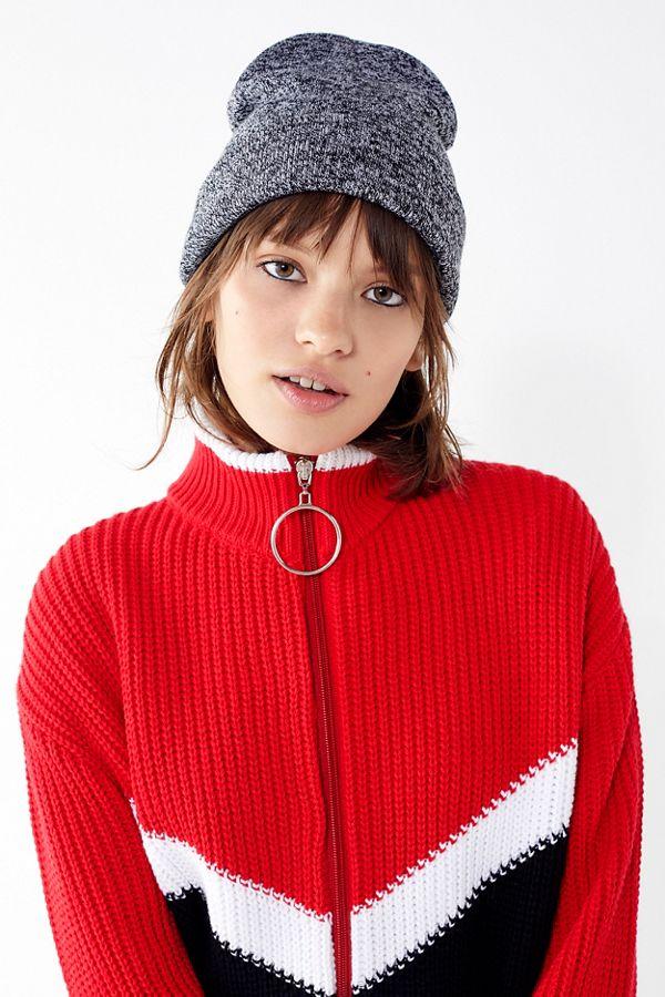 Jersey Knit Basic Grey Beanie  bc49f184d32