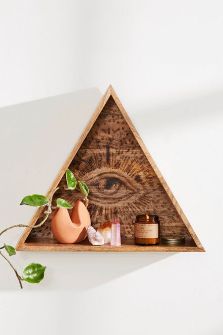 All Seeing Eye Wall Shelf