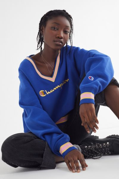 85759cd1 Shoptagr | Champion Uo Exclusive Fleece V Neck Sweatshirt by Champion
