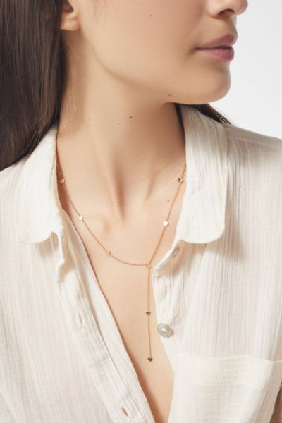 Heart Of Gold Lariat Necklace by Urban Outfitters