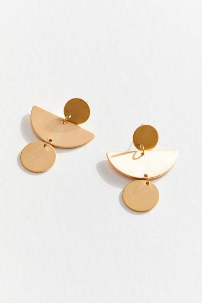 Lyra Modern Statement Drop Earring by Urban Outfitters
