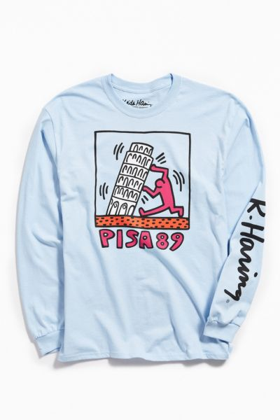 keith haring pisa long sleeve tee urban outfitters. Black Bedroom Furniture Sets. Home Design Ideas