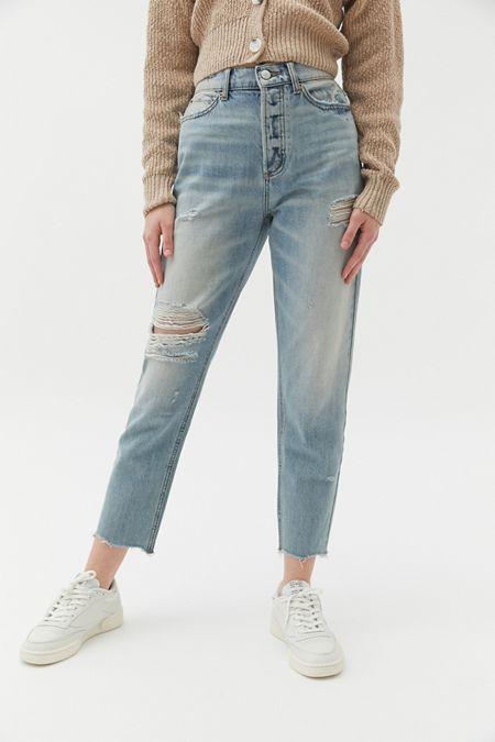 BDG High-Rise Slim Straight Jean - Light Denim 1c24bc703a
