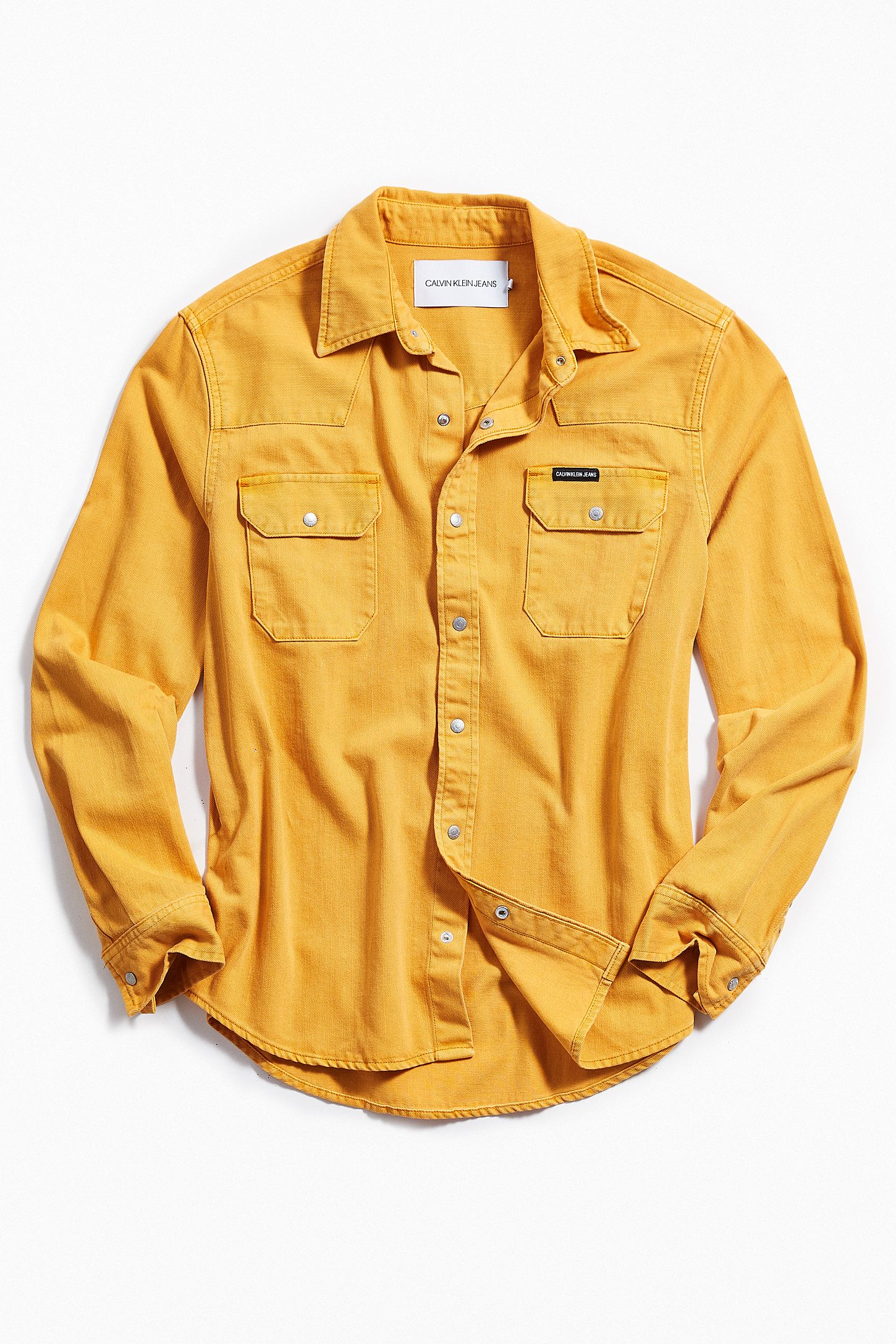 Calvin Klein Western Long Sleeve Button Down Shirt Urban Outfitters