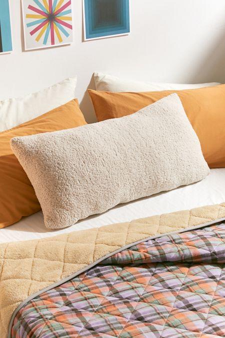 Amped Fleece Fringed Body Pillow