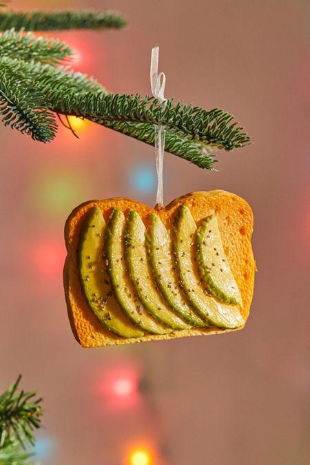 avocado toast christmas ornament