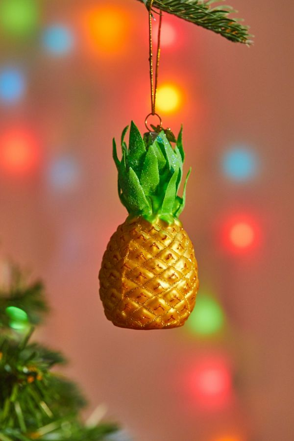 slide view 1 pineapple christmas ornament