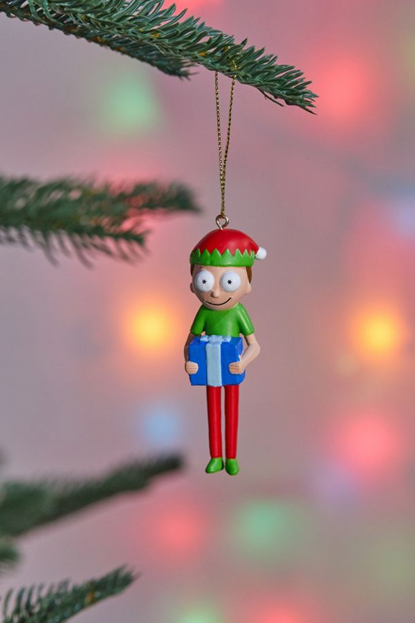slide view 1 elf morty christmas ornament