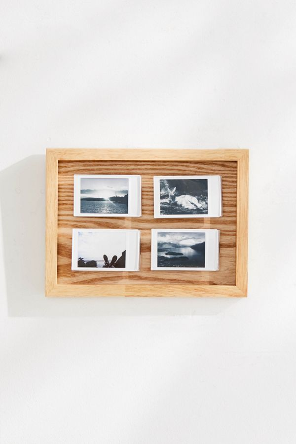Rizzo Wooden Instax Mini Quad Picture Frame   Urban Outfitters