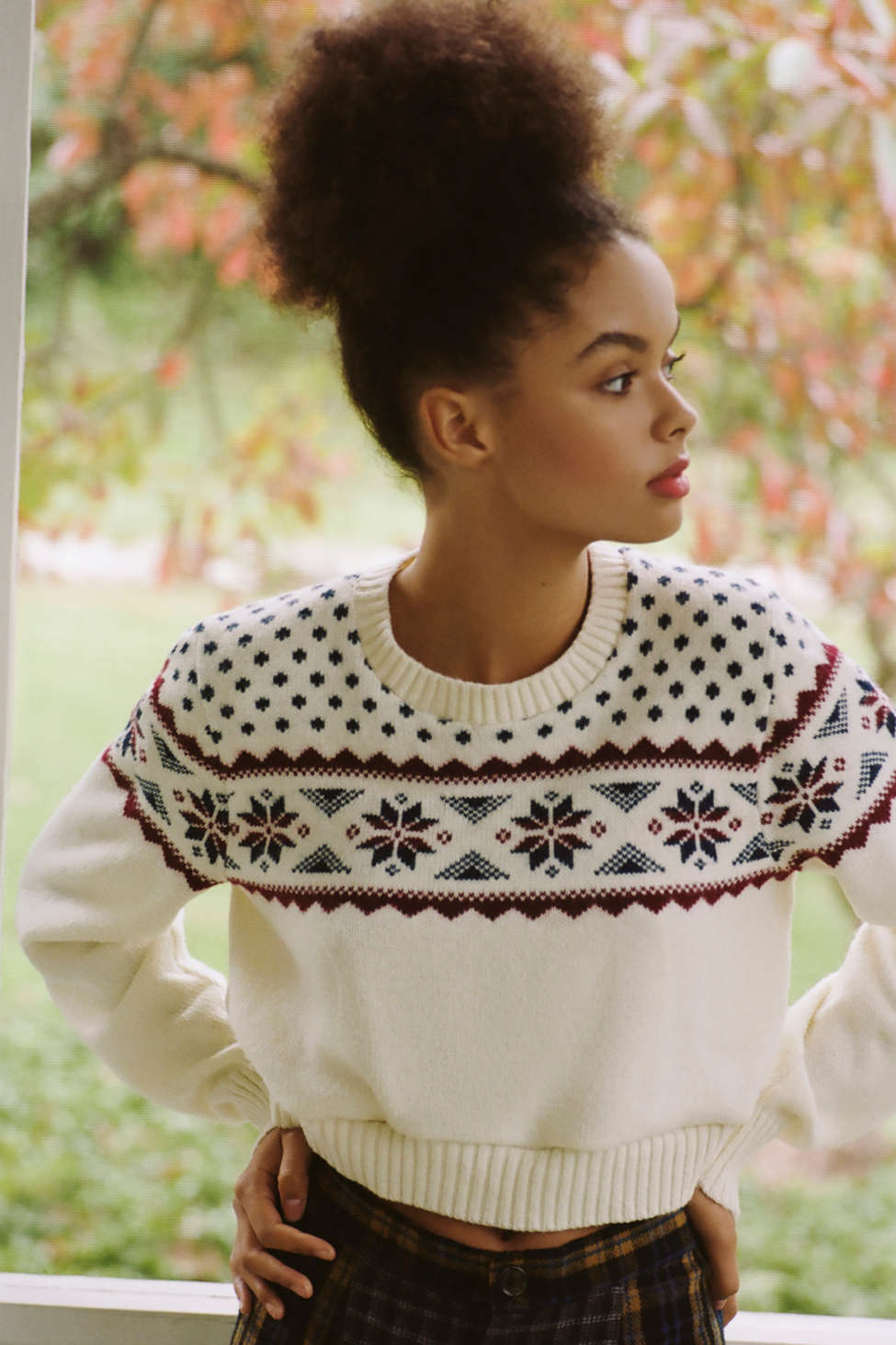 Urban Renewal Remade Fair Isle Cropped Sweater Urban Outfitters