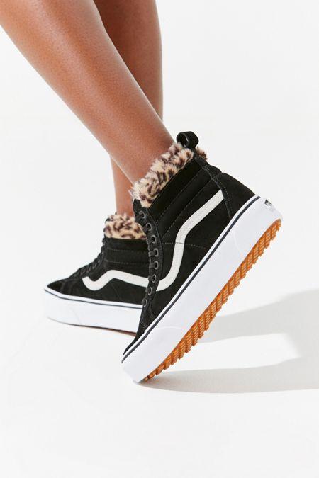 8a975b0ccbc Vans Sk8-Hi Fur Lining Platform Sneaker