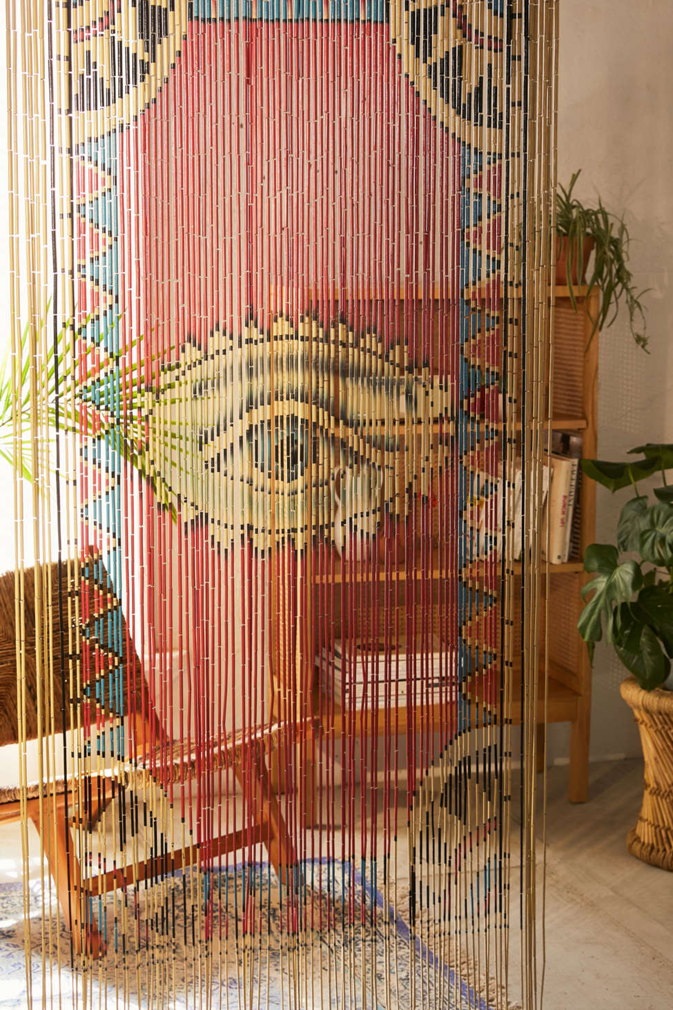 Slide View: 1: Eye Bamboo Beaded Curtain