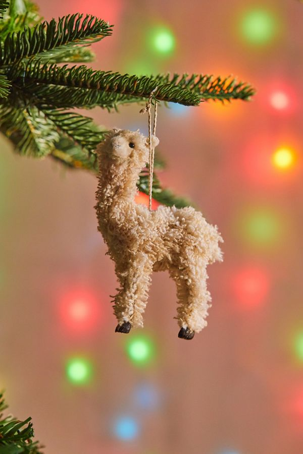 slide view 1 colorful llama christmas ornament - Llama Christmas Decoration