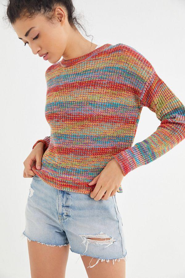 Slide View  2  UO Andi Intarsia Knit Crew-Neck Sweater 258e9094d