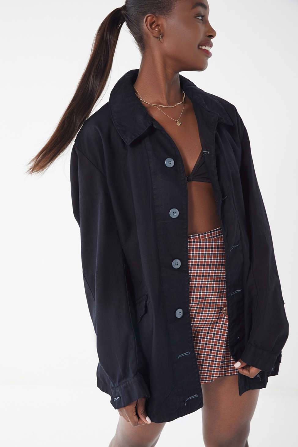 Vintage Button Down Civilian Jacket Urban Outfitters