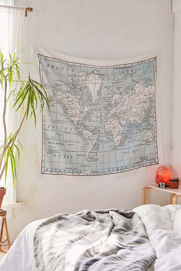 Catherine Holcombe For Deny World Map Tapestry | Urban Outfitters