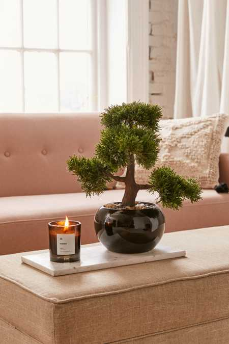 Round Faux Bonsai Tree