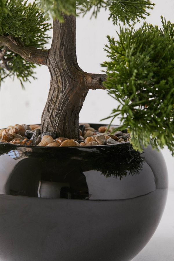 slide view 3 round faux bonsai tree