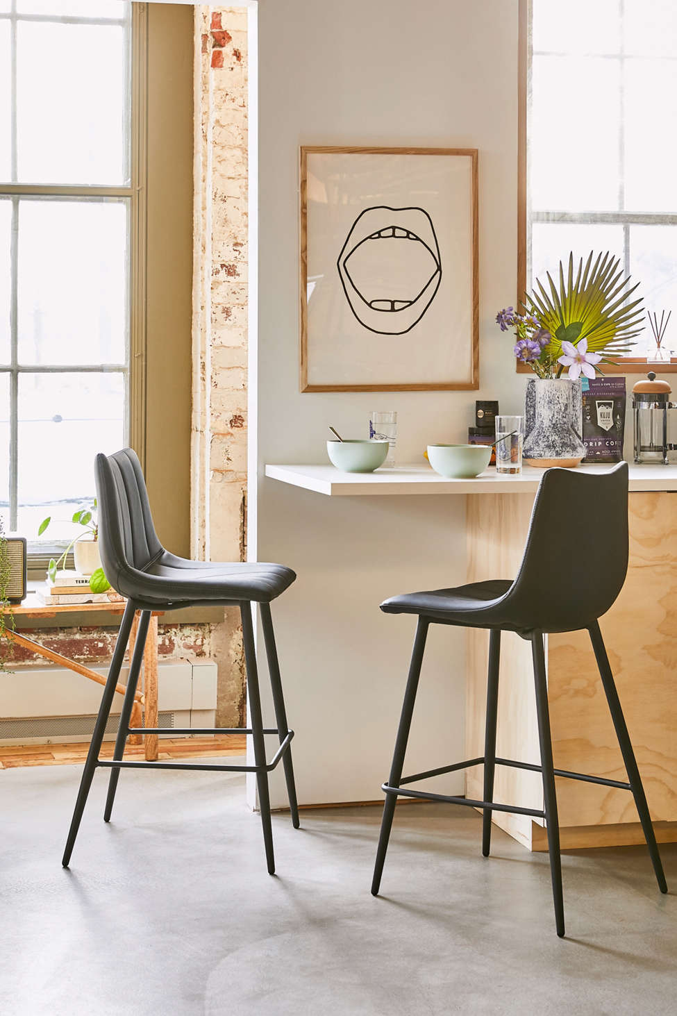 Slide View: 1: Ali Counter Stool - Set Of 2