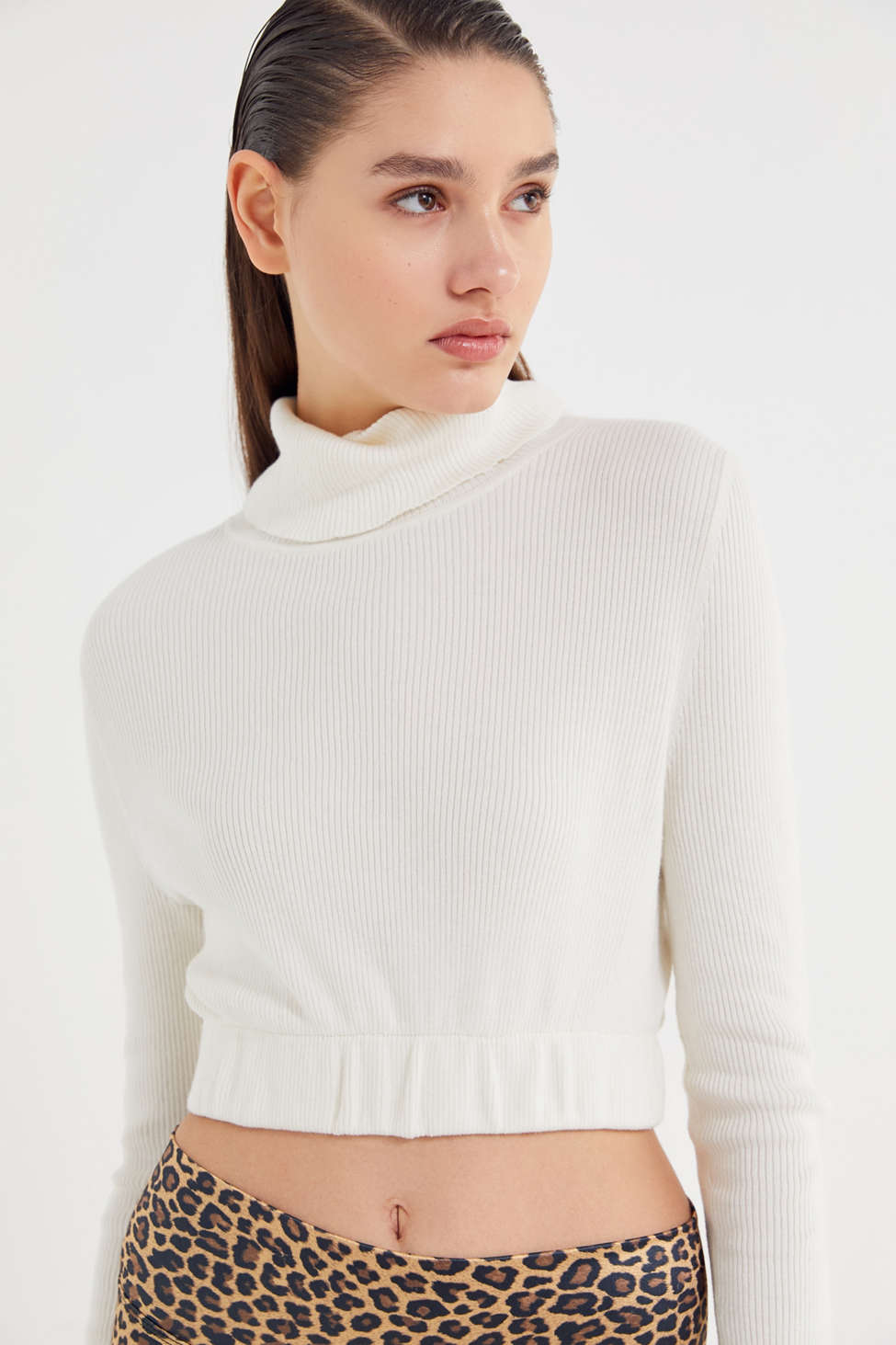 Urban Renewal Recycled Cropped Turtleneck Sweater Urban Outfitters