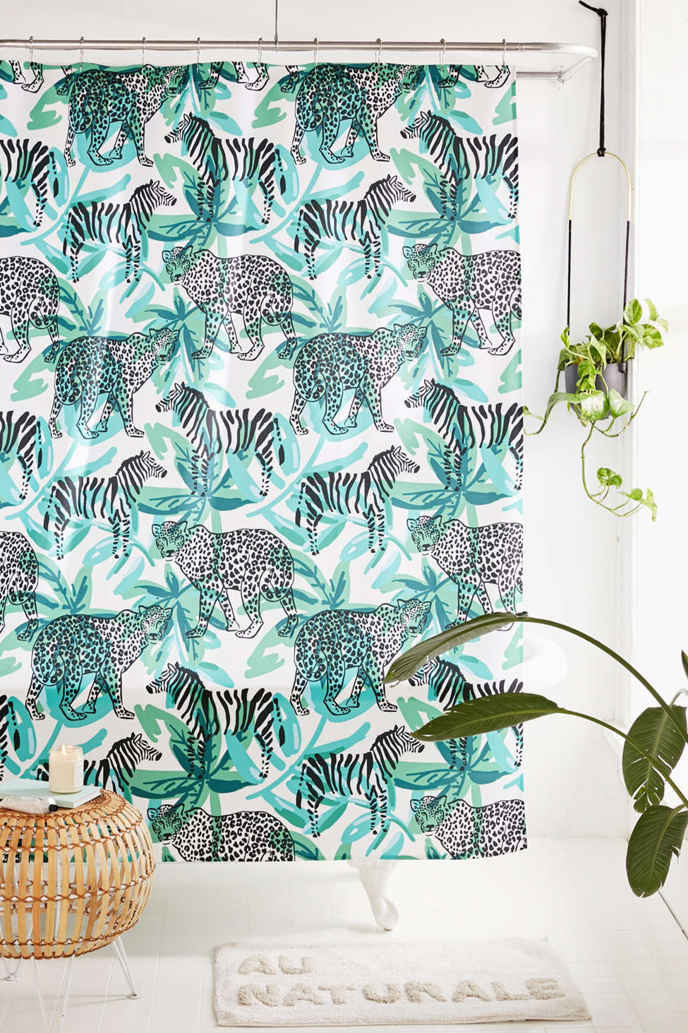 Slide View: 1: OJardin For Deny Leopard Zebra Shower Curtain