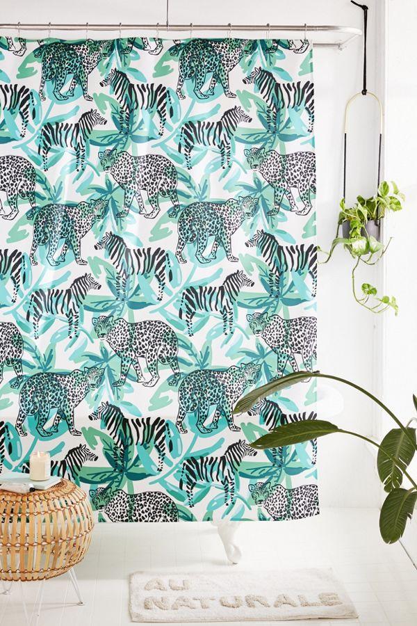 OJardin For Deny Leopard Zebra Shower Curtain