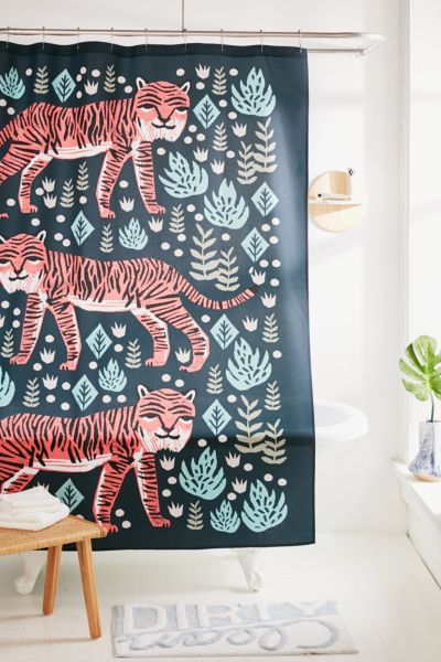 Andrea Lauren For Deny Safari Tiger Shower Curtain by Deny Designs
