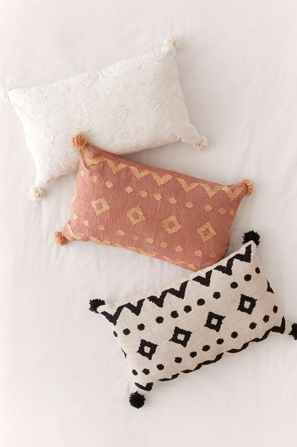 Slide View: 1: Paloma Geo Embroidered Throw Pillow